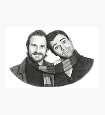 Matt Cohen and Richard Speight Jr sketch Photographic Print