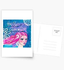 Hello Lovely Postkarten