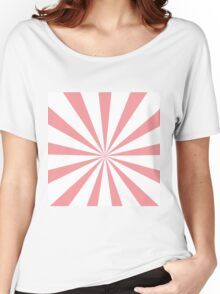 Starburst Pink and White Women's Relaxed Fit T-Shirt