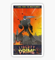 Liberty Prime (retro) Sticker