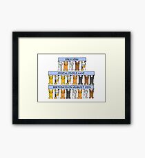 August 20th Birthday Cats Framed Print