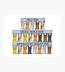 August 20th Birthday Cats Photographic Print