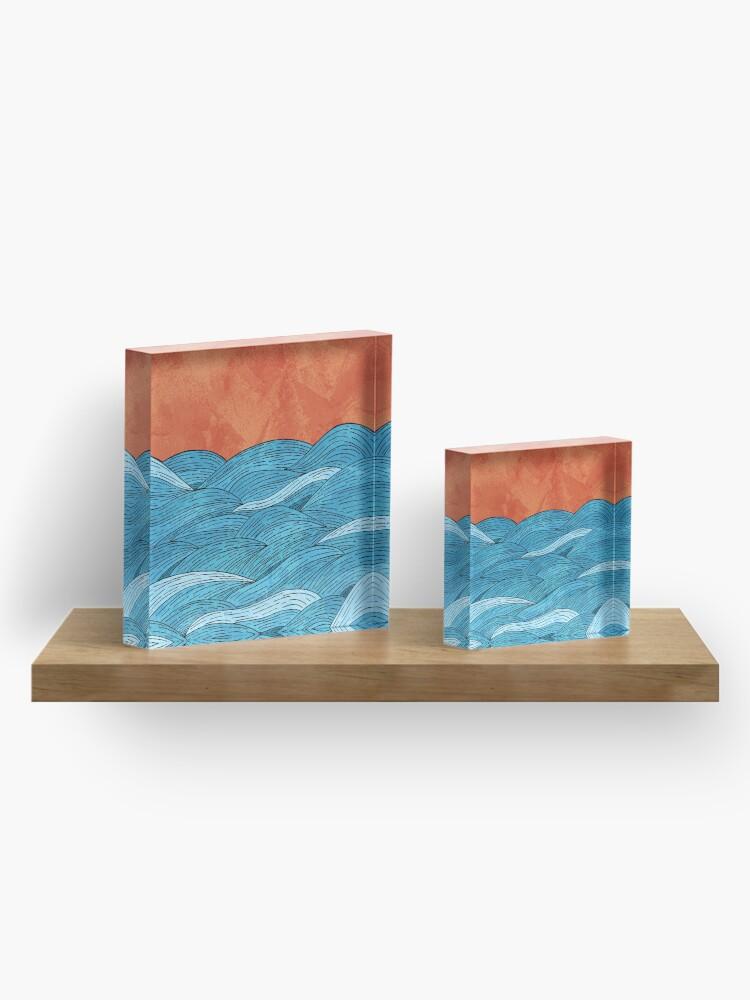 Alternate view of The blue sea Acrylic Block