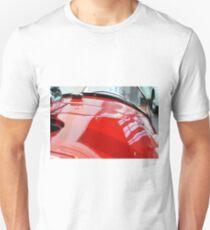 Detail of red shining car hood and windscreen T-Shirt