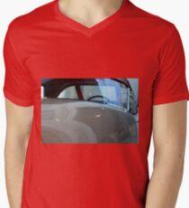Detail of white shining car hood and windscreen Mens V-Neck T-Shirt