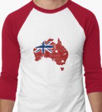 Australia - Maritime Flag Map  Men's Baseball ¾ T-Shirt