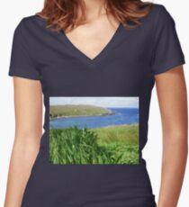 Carloway Inlet Women's Fitted V-Neck T-Shirt