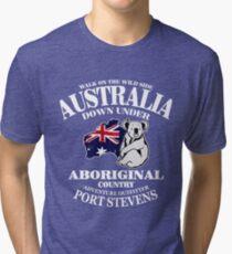 Australia - Koala & Flag Map  Tri-blend T-Shirt