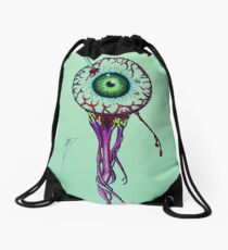 Pierced Eyeball Drawstring Bag