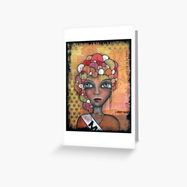 True Beauty Original art by Angieclementine Greeting Card