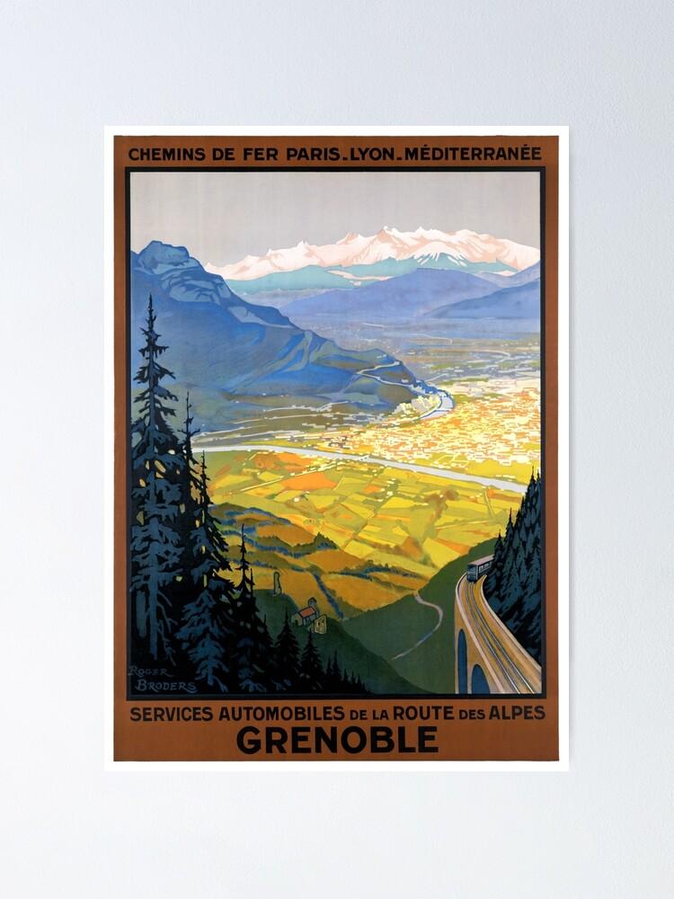 Alternate view of France Grenoble Restored Vintage Travel Poster Poster