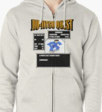 Jiu Jitsu Quest BJJ MMA Retro gaming shirt Zipped Hoodie