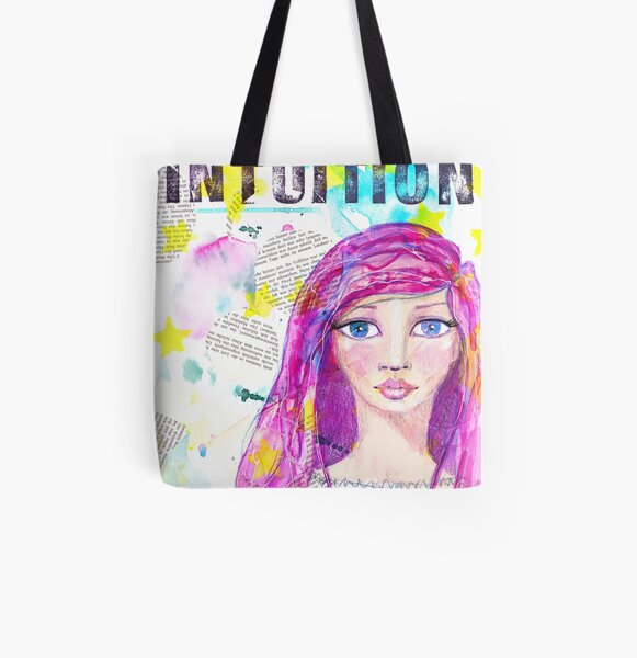 Intuition Allover-Print Tote Bag