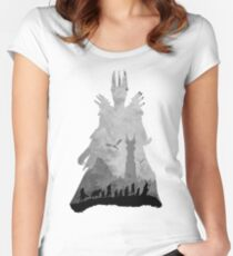Sauron & The Fellowship Women's Fitted Scoop T-Shirt