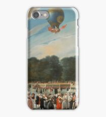 Carnicero Mancio, Antonio - Ascent Of A Montgolfier Balloon At Aranjuez iPhone Case/Skin