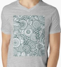 Abstract Floral Mens V-Neck T-Shirt