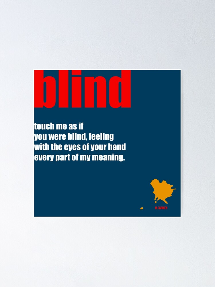 Alternate view of blind Poster