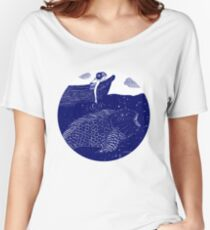 The Blue Shimmering Sea Lights Women's Relaxed Fit T-Shirt