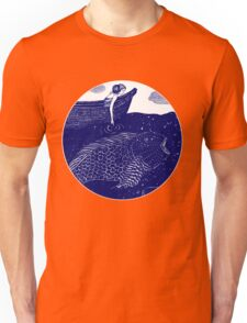 The Blue Shimmering Sea Lights Unisex T-Shirt