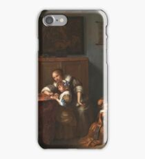 Caspar Netscher - A Lady Teaching A Child To Read iPhone Case/Skin
