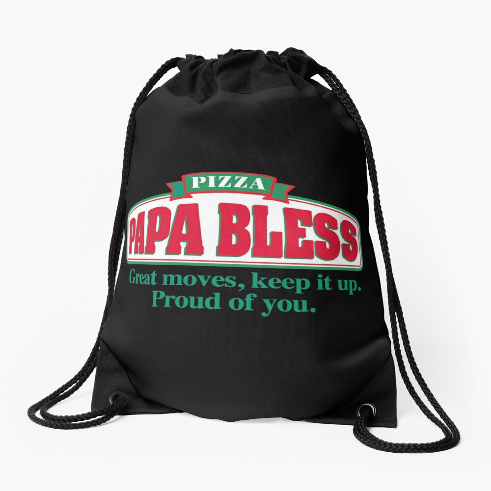 PAPA BLESS PIZZA (Parodie T-Shirt) Turnbeutel