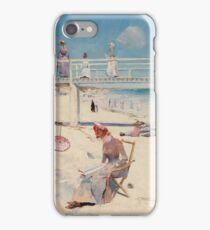 Charles Conder - A Holiday At Mentone 1888 iPhone Case/Skin