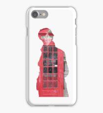 Sherlock- Telephone Box White iPhone Case/Skin