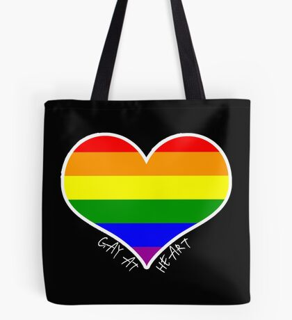Schwules Herz Regenbogen Tote Bag