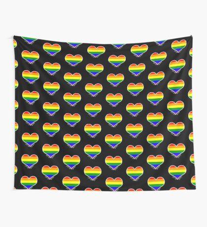 Schwules Herz Regenbogen Wandbehang
