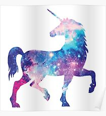 Unicorn. Elegant Space Unicorn Poster