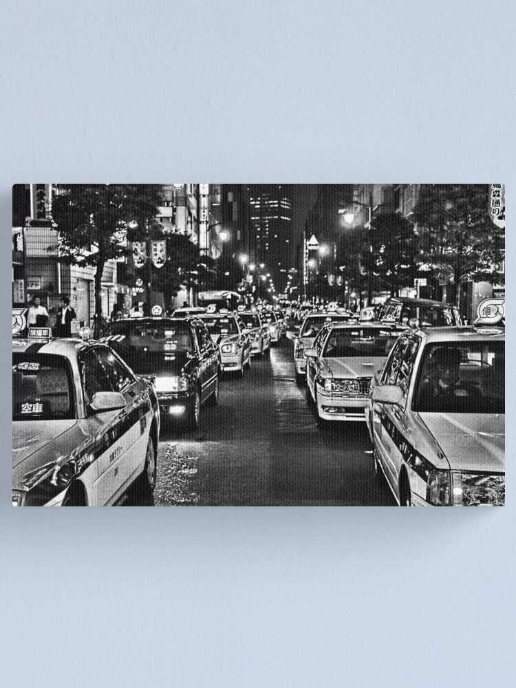 Alternate view of Tokyo Taxis Canvas Print