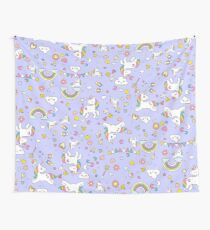 Unicorn Lilac Pattern  Wall Tapestry