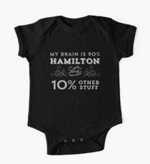 My Brain is 90% Hamilton Vintage T-Shirt from the Hamilton Broadway Musical - Aaron Burr Alexander Hamilton Gift One Piece - Short Sleeve
