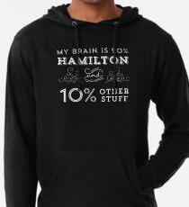 Sudadera con capucha ligera My Brain is 90% Hamilton Camiseta vintage de Hamilton Broadway Musical - Aaron Burr Alexander Hamilton Gift