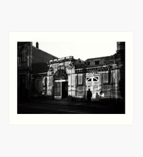 n°314: Street photography black and white, shadow play Art Print