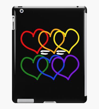 Liebe = Liebe Rainbow Hearts iPad-Hülle & Klebefolie