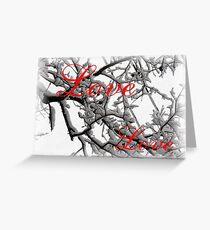 Love pillow Greeting Card