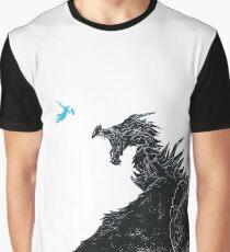 Skyrim Inspired Dragon Print Graphic T-Shirt