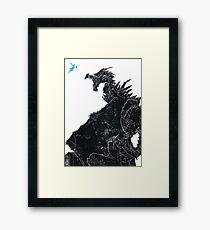 Skyrim Inspired Dragon Print Framed Print