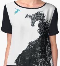 Skyrim Inspired Dragon Print Chiffon Top