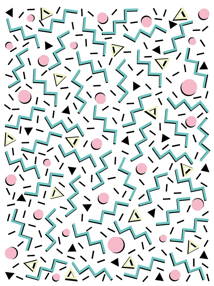 Back to the 80's eighties, funky memphis pattern design by 5mmpaper