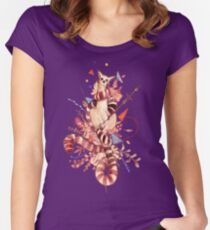 El príncipe lemur Women's Fitted Scoop T-Shirt