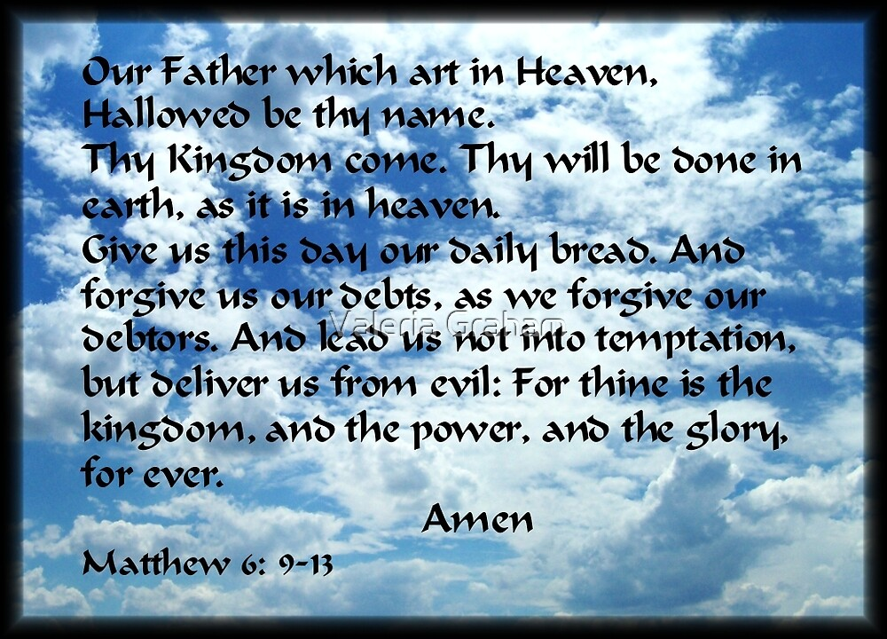 Lords Prayer throw pillow by Valeria Lee