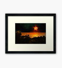 The Last Sunset. Framed Print