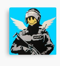 Soldier Smiley - Banksy Canvas Print