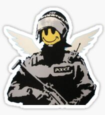 Soldier Smiley - Banksy Sticker