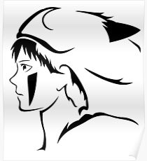 Black Princess Vector Poster