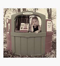Slow Day At The Kissing Booth Photographic Print