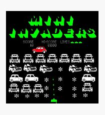 Mini Space invaders Photographic Print