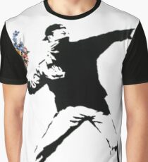 Banksy - Throwing Flowers Graphic T-Shirt